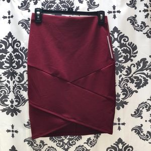 Joe B Maroon Pencil Skirt NWT